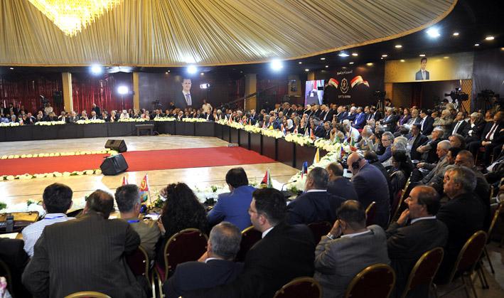الملتقى النقابي الدولي الثالث للتضامن مع عمال وشعب سوريا لكسر الحصار الإقتصادي ورفض التدخلات الامبريالية والارهاب