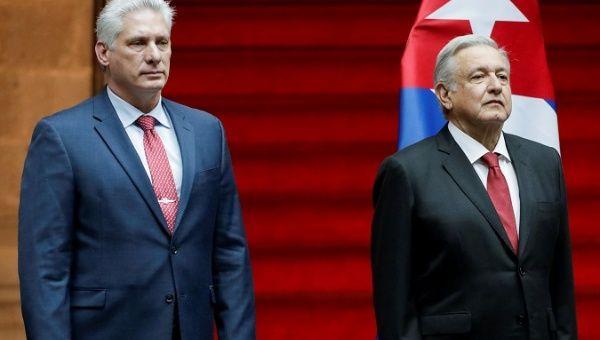 Cuba 'Cuba, Yes,' People Shout as Diaz-Canel Arrives in Mexico City